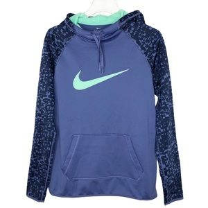 Nike Hooded Pullover Women Sz M in Blue & Green